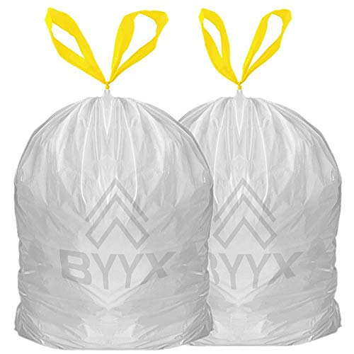 BYYX Pack of 20Bin Liners 50L Bin Bags Strong Tall Trash Bags White Indoor...