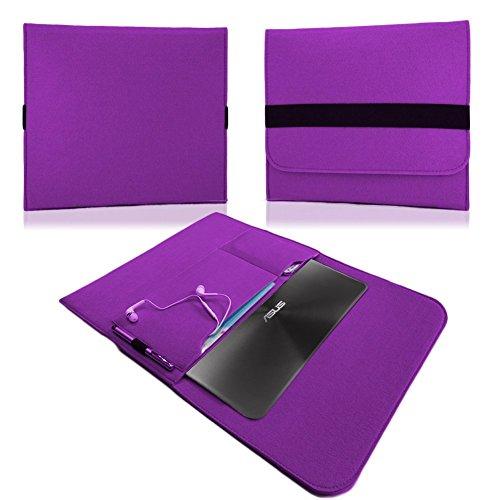 NAUC Für Lenovo E31-70 Tasche Hülle Filz Sleeve Schutzhülle Case Cover Bag, Farben:Lila