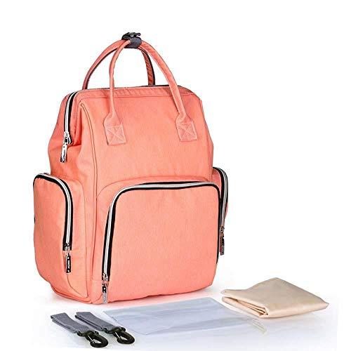 Sac À Dos Sac À Dos, Sac À Bandoulière Multifonctions Portable Mode Sac À Bandoulière Grande Capacité Bébé Étanche Rose Orange 17 Litres