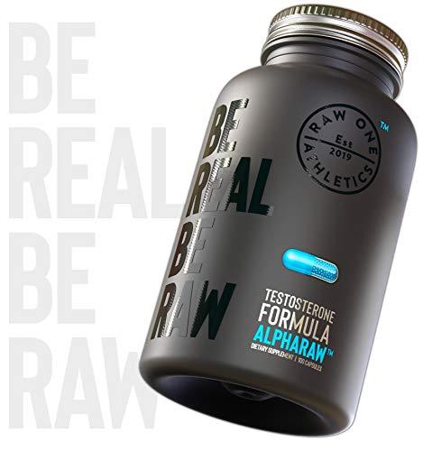 ALPHARAW™ Testosterona Hombre 100 Capsulas   Booster de Testosterona para Hombres   Potenciador Sexual Masculino   Ácido D-aspártico, Ashwagandha, Shilajit, Zinc, Magnesio, Ginseng, Vitamina D3