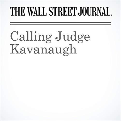 Calling Judge Kavanaugh copertina