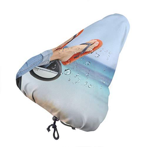 N\A Outdoor-Sitzbezüge Summer Cool Slippers Fahrrad Kindersitz Regenbezug Sitzbezüge für Jugendliche mit Kordelzug, Regen- und staubdicht für die meisten Fahrradsättel