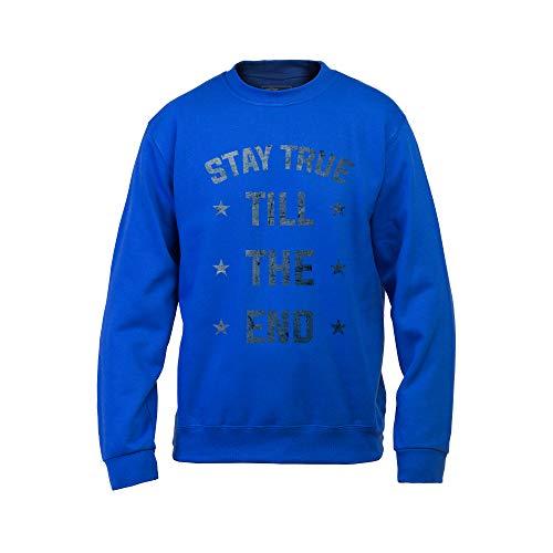 Wild Soul Tees, Sweat-shirt pour homme, Stay True Till The End   Lettrage Design   Logo   Vêtements   Ligne de vêtements - Bleu - Small