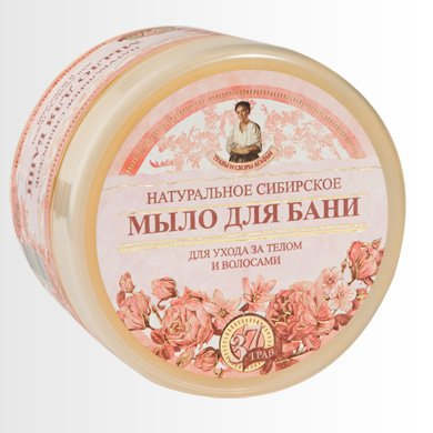 Sibirische natürliche Seife mit Blüten Extrakten, 500ml, Agafia