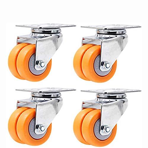 JNWEIYU Toolbox Caster Set 2-Zoll-Gleitrollen, Sofa-Möbel, Couchtisch, Kühlschrank Räder, Doppelräder und andere Job-Boxen (Color : B)