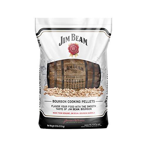 Ol' Hick Cooking Pellets Genuine Jim Beam Bourbon Barrel Grilling Smoker Cooking Pellets, 20 Pound Bag