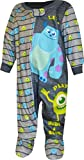 Disney Monsters INC Pajamas for Babies Footed Blanket Sleeper Mike and Sully PJ (18 Months) Gray