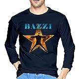ShanqupU Bazzi Men's Cool Long Sleeve T-Shirt Navy L