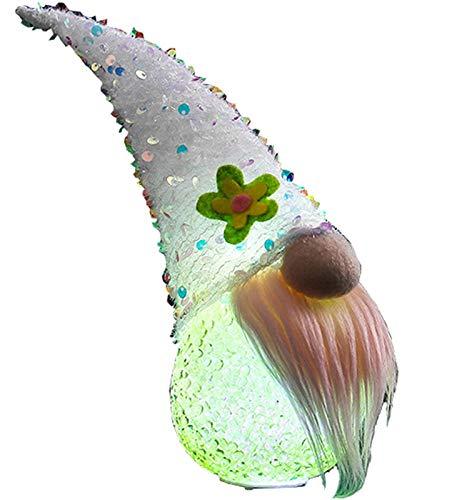 KTYX Schweden Wichtel Deko Valentinstag Gnom-Lichter - Beleuchtete Ostern-Gnom-Plüschelfen-Dekorationen - Gnom-Plüschstoff für Skandinavische Wohnaccessoires (Color : B)