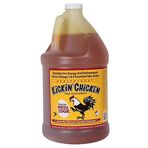 HealthyCoat Kickin' Chicken Feed Supplement: Gallon. Plumage, Skin, Molting, Egg,...