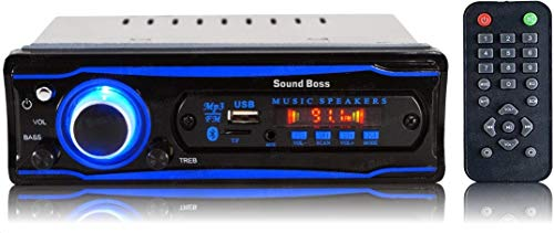 Sound Boss SB-0000BT Car FM/USB/SD/AUX/Bluetooth Player (Blue)