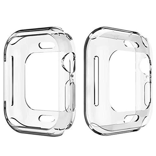Corki Apple Watch Funda 38 mm, Protector de Pantalla Completo de TPU Suave Cubierta Parachoques Protectora Carcasa para Apple iWatch Serie 3 / Serie 2 / Serie 1 / Edition/Nike+/ Hermès/Sport (Claro)