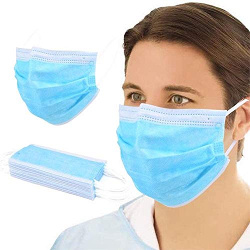 Maske 3-lagig Einweg Mund Nasen Schutz Maske EN14683 : 2019 Standart Type IIR (50)