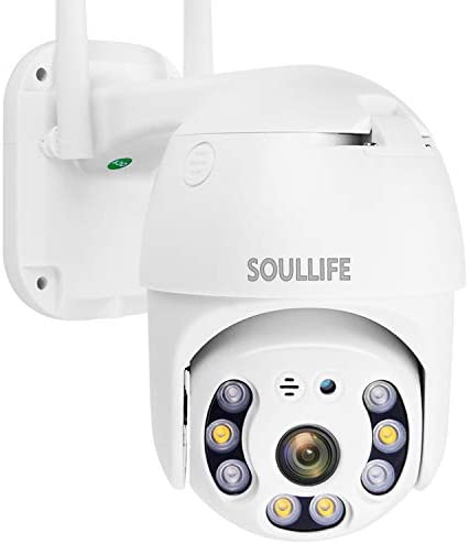 SoulLife Security Camera Outdoor 1080P HD WiFi Home Security Camera with Pan Tilt 360 View Two product image