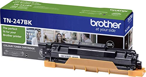 Brother TN-247BK Toner Cartridge, High Yield, Black, Brother Genuine Supplies, Black