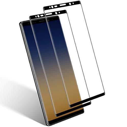 Aspiree Ecran Protection pour Samsung Galaxy Note 8, Lot de 2, Verre Trempé Dureté 9H, Anti-Rayure, Sans Bulles D'air, HD 99% Transparent