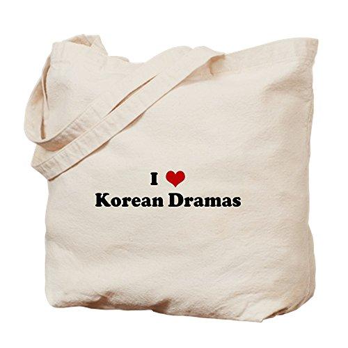 CafePress–I love Korean Dramen–Leinwand Natur Tasche, Reinigungstuch Einkaufstasche