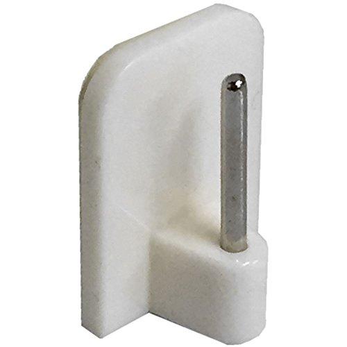 Zelfklevende stift op eindhaak voor gordijnen, draad wit (verpakking van 4)