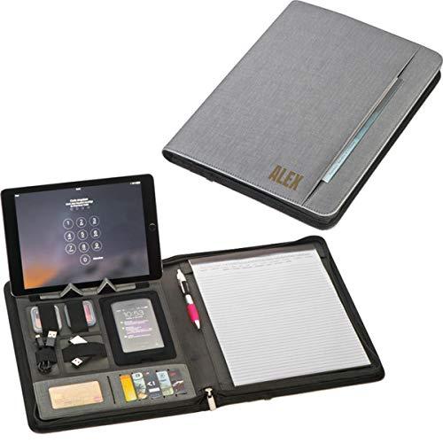 Smyla Schreibmappe mit Powerbank(5.000 mAh) & Namen   Schreibmappe mit personalisierter Wunschgravur