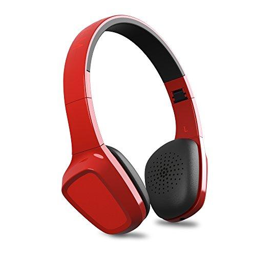 Energy Sistem Headphones 1 Bluetooth Red (Auriculares inalambricos, Bluetooth, Micrófono, Control de Llamadas, Batería Recargable, ultraligeros, Diadema Regulable y Almohadillas con rotación) Rojo