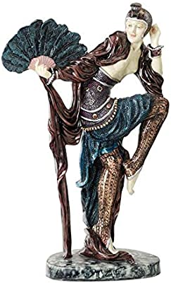 Design Toscano Fan Dancer Art Deco Dancer Sculpture
