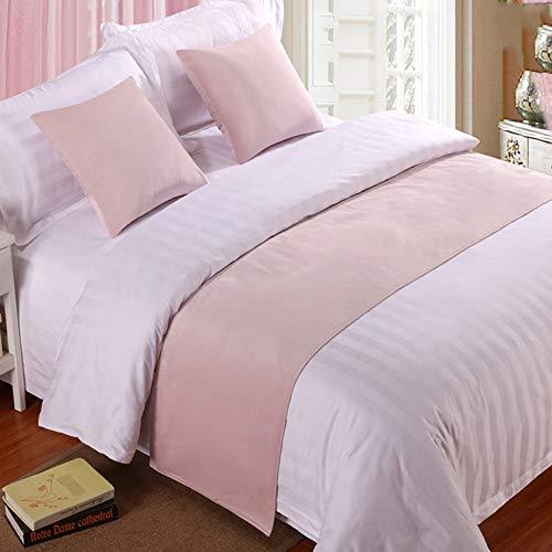 Bed Runner Letto Runner Runner da letto Biancheria da letto dell'hotel di alta qualità velluto letto asciugamano coda letto bandiera fine letto tappetino copriletto strisce decorative rosa _ lo stess