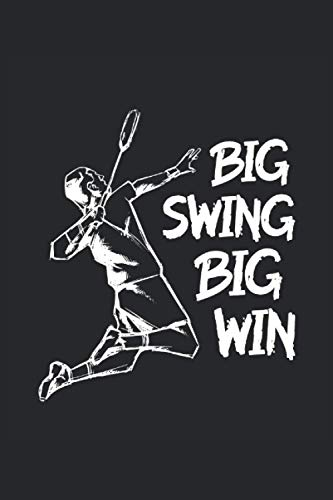 Big swing big win badminton sketchbook | notebook with 120 pages squared: Graph Paper Composition Notebook: Grid Paper, Quad Ruled, 120 pages Softcover (6x9 inch)