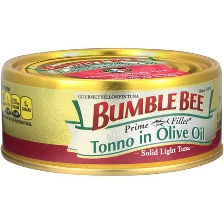 Bumble Bee Prime Fillets Light Tuna Tonno in Olive Oil 5oz Can (Pack of 6)