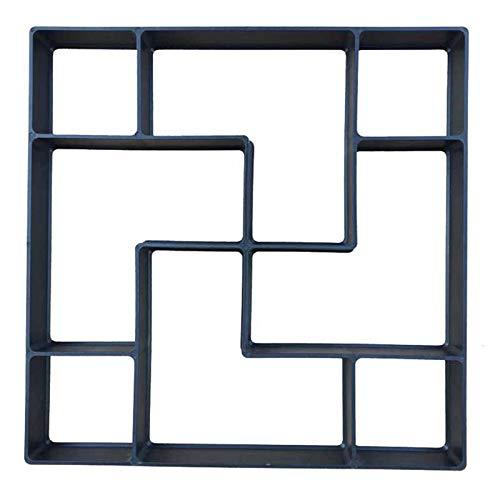 ZoSiP Jardinería Pavimento Encofrado Celosía de Hormigón DIY encofrado Deslizante Cemento Herramienta de Suelo Azulejos Adecuado for jardín Pavimento (Color : Black, Size : 40x40cm)