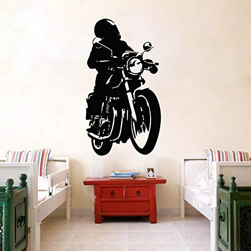 Tianpengyuanshuai Vinyl Aufkleber Motorrad Rider Club Wandbild Kinderzimmer Wandaufkleber Vinyl 75X139cm