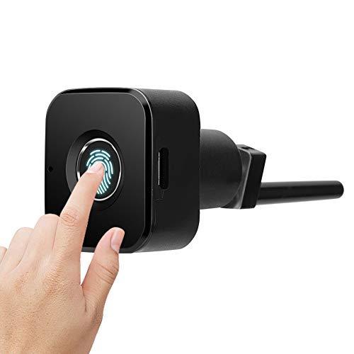 Mini cerradura oculta de huellas digitales Cerradura de seguridad sin llave biométrica inteligente Gabinete Armario de cajón Caja de seguridad Semiconductor Cerradura de cerrojo de huella digital