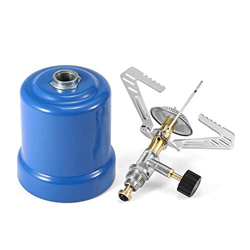 XIAOFANG Estufa de Acampar Estufa de Tanques de Gas propano Canto de la Estufa con Quemador Ajustable para Estufa de Camping al Aire Libre Tanque de Gas (Color : Model 2)