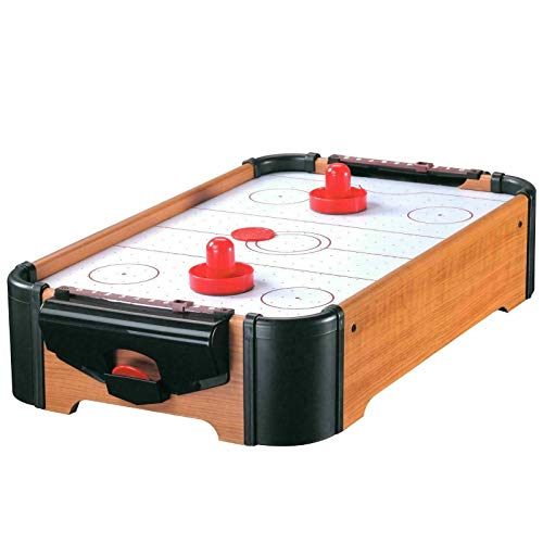 True Face Air Hockey Table Top Mini Game Paddle Pusher Pucks Toy Family Gadget Indoor Play