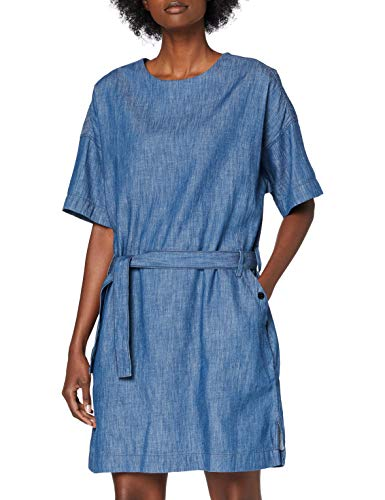 G-STAR RAW Deline Shirt Dress S/s Vestido, Azul (Rinsed 082), Small para Mujer