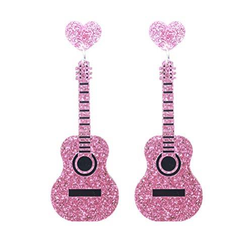 PRETYZOOM Pendientes Colgantes de Guitarra Instrumento Musical Eléctrico Pendientes Colgantes Regalos de...