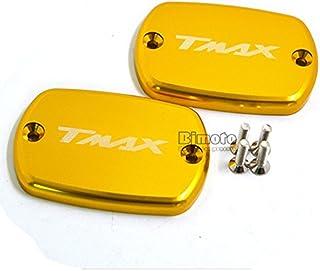 Vaycally 2 piezas motocicleta CNC aleaci/ón de aluminio l/íquido tanque aceite tapa tapa para Yamaha Tmax 530 T6061-T6 aleaci/ón de aluminio CNC