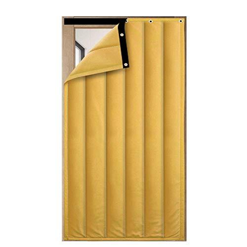 ZXL deurgordijn winter ingang warm houden isolatie winddicht, 2 kleuren, 34 grootte (kleur: GROEN, grootte: 90x240cm)