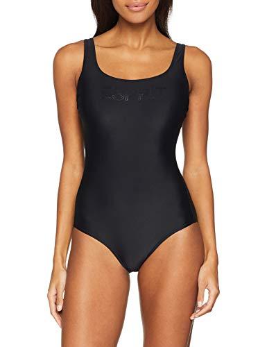 ESPRIT Damen Ocean Beach AY Logo Swimsuit Badeanzug, Schwarz (Black 001), Herstellergröße: 40