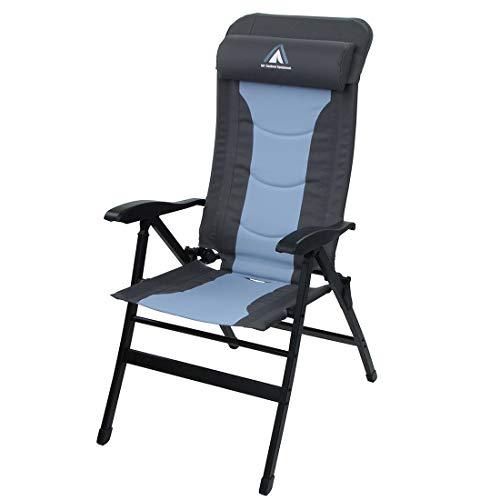 10T Gartenstuhl Jai gepolsteter Klappstuhl Campingstuhl Hochlehner Liegestuhl Stuhl mit Kopfkissen