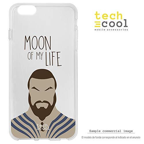 Funnytech Cover Xiaomi Mi5S Plus Custodia in Silicone (TPU) per Xiaomi Mi5S Plus [Design Esclusivo, Stampa ad Alta Definizione] [Moon of My Life Fondo Transparente]
