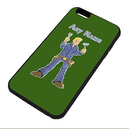 UNIGIFT gepersonaliseerd cadeau - mechanisch met gereedschap iPhone hoesje (Carrière ontwerp kleur) Naam bericht unieke Apple Cover - ingenieur garage werknemer personeel voertuig auto