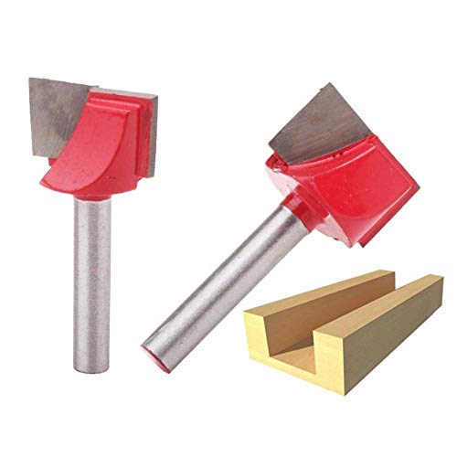 Broca de corte de madera de 2 piezas, 10/13/16/18/20/22/25/30/32 mm Cepillado de superficie Fresas de fresado de madera Brocas Limpieza inferior, 6 x 13 mm * 2 piezas