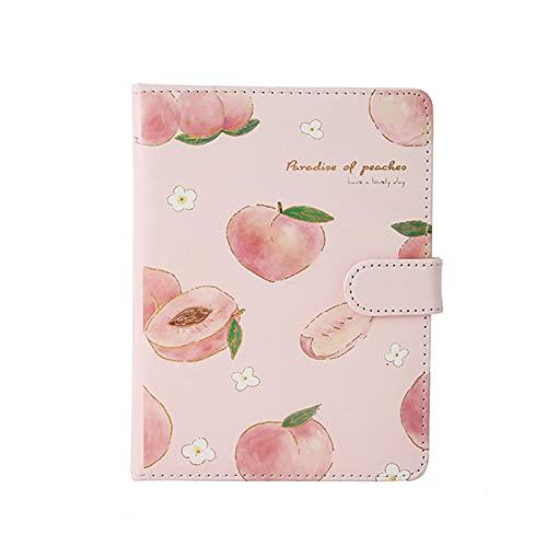 BOIZAN Kawaii Pink Peach Diary Cute Planner Book Per Studenti Copertina PU Magnetica Agenda Colorata Pagina Interna Diario Cancelleria Notebook