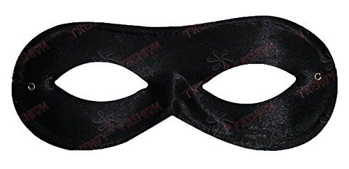 Schwarz Unisex Maskerade, Bandit, Maske Zorro
