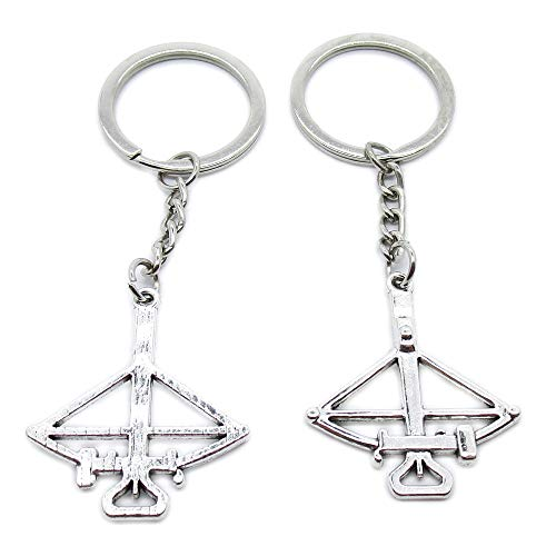 AA4623 Schlüsselanhänger, antiker Silberton, Schlüsselanhänger, Armbrust silberfarben antik-optik