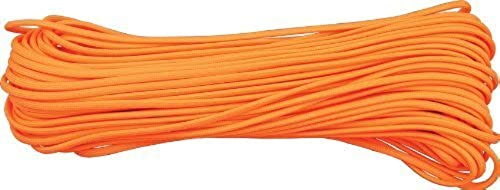 Atwood Rope Brand 550 Paracord Neon Blaze Orange Parachute Cord 100 Feet by Atwood Rope