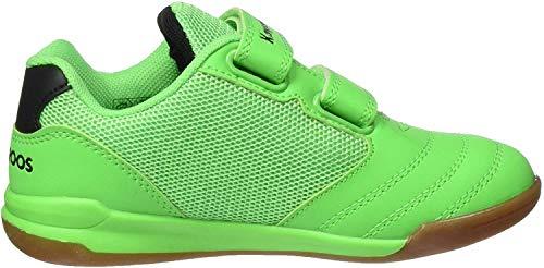 KangaROOS Unisex-Kinder Race Comb V Sneaker, Neon Green/Jet Black 8028, 33 EU