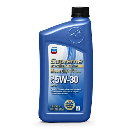 Chevron 83723-CASE SAE 5W-30 Supreme Motor Oil - 1 Quart Bottle, (Pack of 12)
