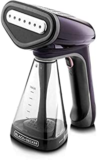 Black+Decker Handheld Portable Garment Steamer 1500 Watts with Anti Calc (Violet)