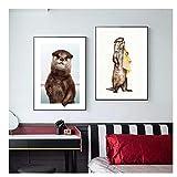 feitao Tier Wandkunst Nette Otter Poster und Drucke
